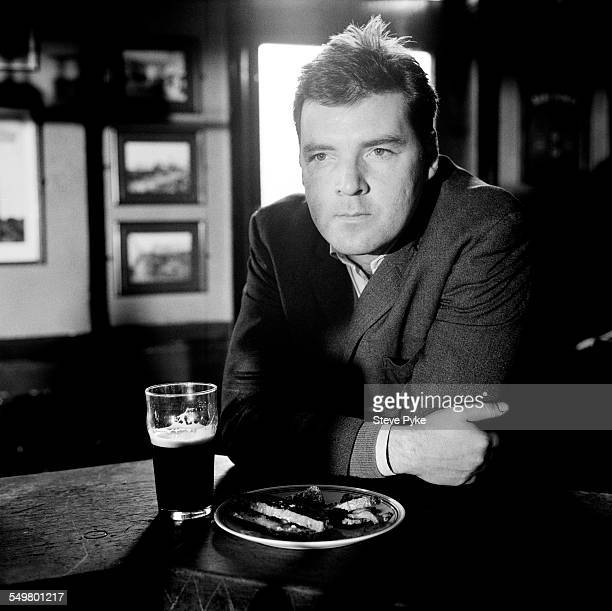 English actor Brendan Coyle at the Stag's Head pub in Faversham Kent November 1998