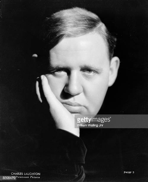 English actor Charles Laughton looking glum