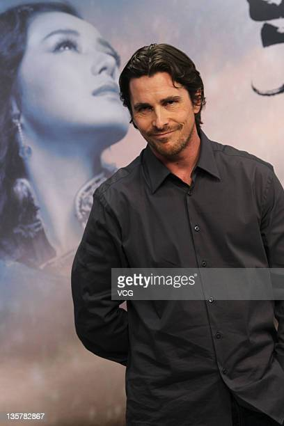 English actor Christian Bale attends movie 'The Flowers Of War' press conference on December 13 2011 in Beijing China