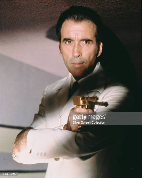 English actor Christopher Lee as Bond villain Francisco Scaramanga in 'The Man with the Golden Gun' directed by Guy Hamilton 1974