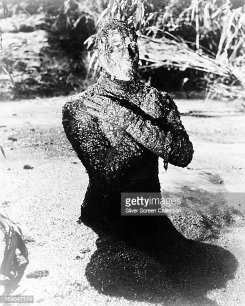 English actor Christopher Lee as Kharis the Mummy in 'The Mummy' directed by Terence Fisher 1959