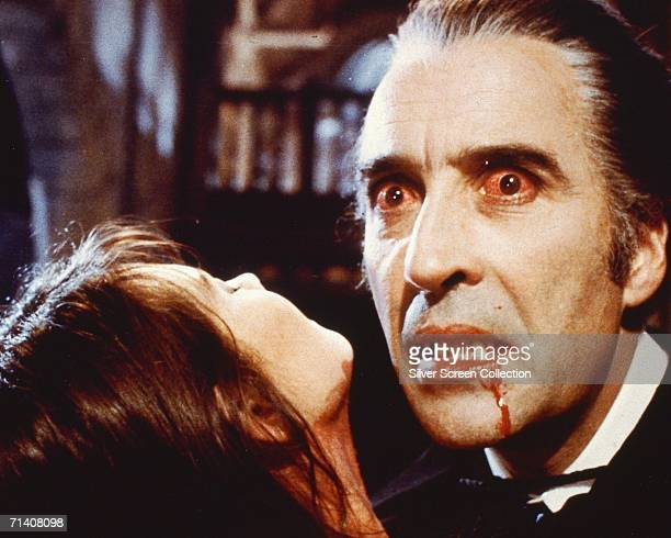 English actor Christopher Lee as the bloodsucking Count in 'Dracula AD 1972' directed by Alan Gibson for Hammer Films 1972