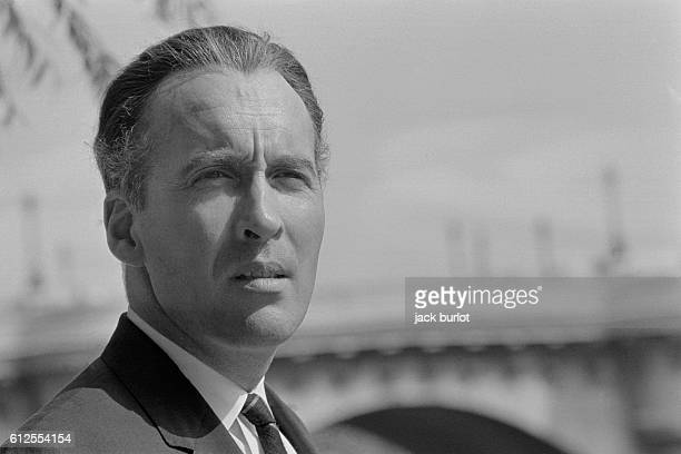 English Actor Christopher Lee in Paris