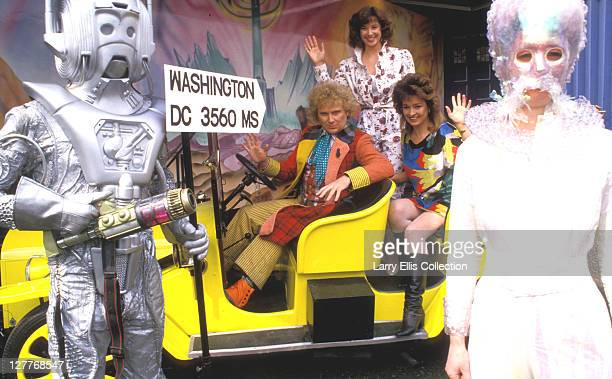 English actor Colin Baker as The Doctor in a publicity still for 'Attack of the Cybermen' an episode of the British television series 'Doctor Who'...