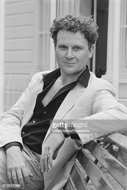 English actor Colin Baker who plays Doctor Who in the BBC television series posed in London on 18th August 1983