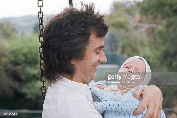 English actor comedian and musician Dudley Moore with his son Patrick 1976 Patrick's mother is the actress Tuesday Weld