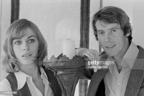 English actor, comedian, and singer Michael Crawford with his wife Gabrielle Lewis, UK, 22nd November 1969.