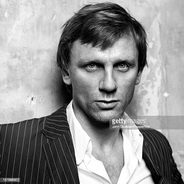 English actor Daniel Craig posed at the Royal Court Theatre in Chelsea London on 30th September 2002