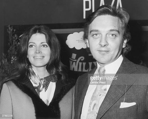 English actor David Hemmings with his wife American actress Gayle Hunnicut at the Charity premiere of the film 'Willy Wonka And The Chocolate...