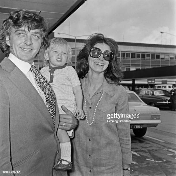 English actor David Hemmings with his wife, American actress Gayle Hunnicutt and their son Nolan Hemmings , UK, 30th May 1972.