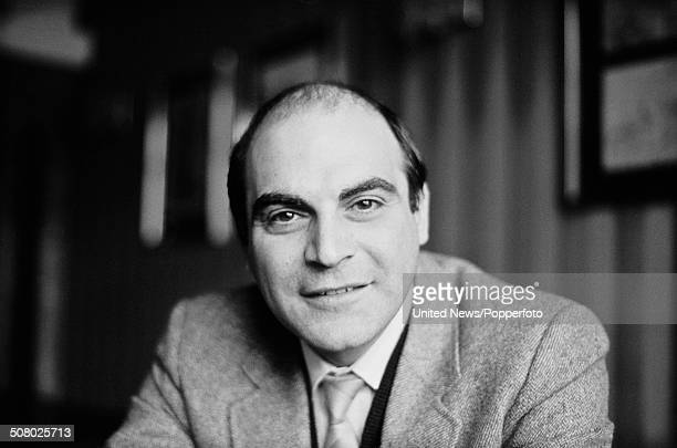 English actor David Suchet posed at BBC Television Centre during the filming of the television series 'Blott on the Landscape' in London on 28th...