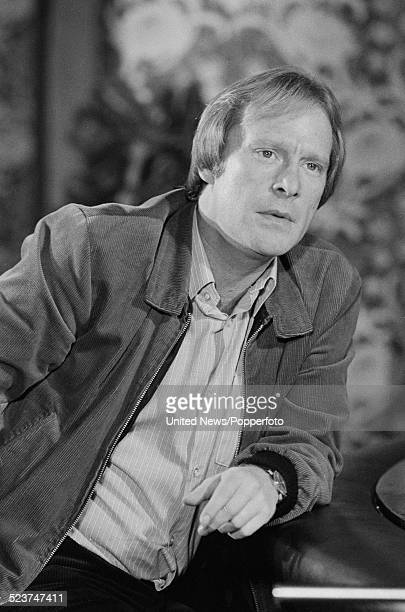 English actor Dennis Waterman pictured in character as Terry McCann on location during filming of the television series Minder in London on 3rd...