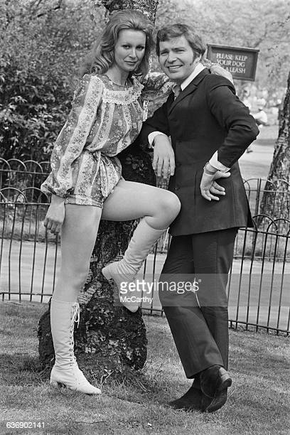 English actor Derren Nesbitt and his wife actress Anne Aubrey who are set to costar in West End play UK 4th May 1971