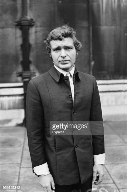 English actor Derren Nesbitt outside courthouse after being issued a restraining order from his wife Anne Aubrey UK 13th January 1970