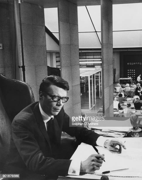 English actor Dirk Bogarde stars as a mathematician and codebreaker in the film 'Sebastian' being directed by David Greene at Twickenham Studios UK...