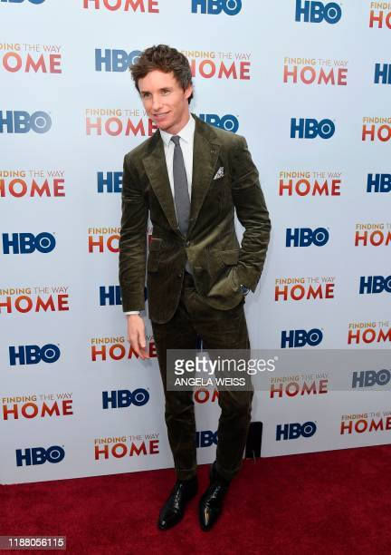 English actor Eddie Redmayne attends HBO's Finding The Way world premiere at Hudson Yards on December 11 2019 in New York City