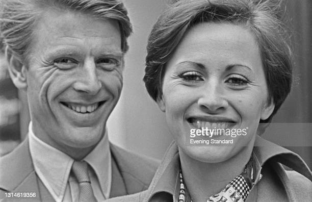 English actor Edward Fox and Canadian actress Kate Nelligan, who are appearing together in the play 'Knuckle' by David Hare at the Comedy Theatre in...