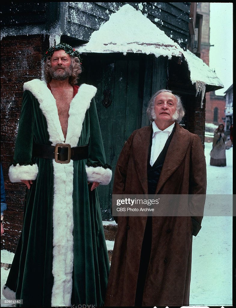 George C Scott A Christmas Carol.English Actor Edward Woodward As Christmas Present And