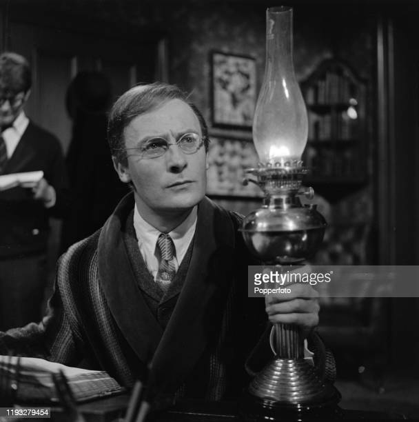 English actor Edward Woodward plays the character of Reeve in a scene from the ABC Weekend Television drama series Mystery and Imagination episode...