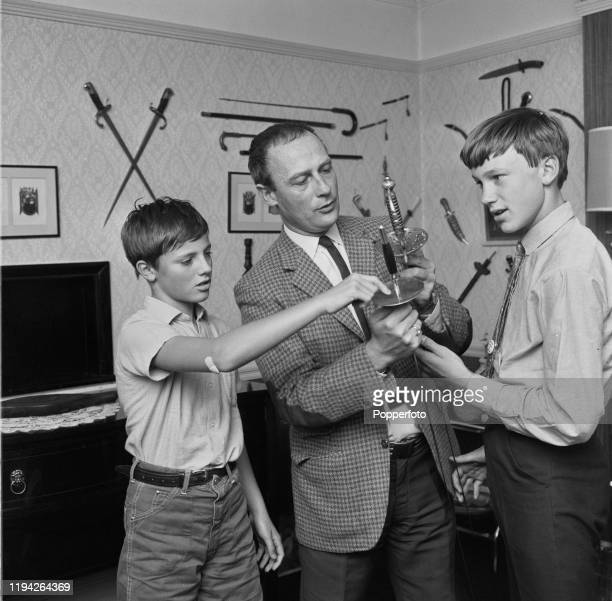 English actor Edward Woodward posed with his two sons Peter Woodward and Tim Woodward, at home in September 1967. Edward Woodward currently plays the...