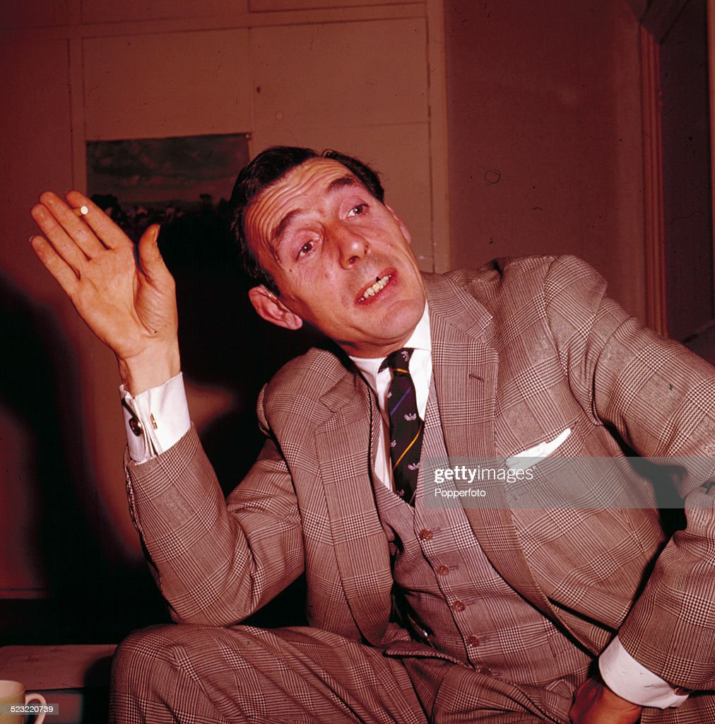 English actor Eric Sykes (1923-2012) pictured wearing a three piece suit in 1964.