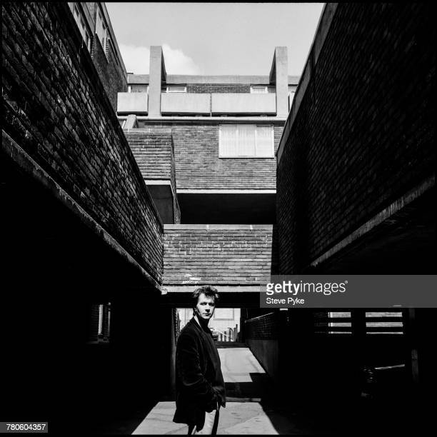 English actor Gary Oldman on a housing estate in London 4th May 1993