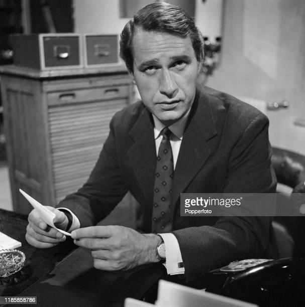 English actor Geoffrey Palmer plays the character of Doctor Pringle in the ABC Television drama 'Public Eye No No Nothing Like That' in September 1966