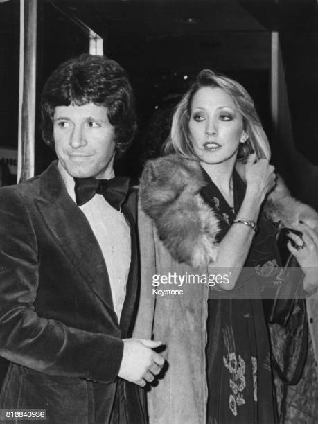 English actor George Layton and friend at the Haymarket Theatre in London 26th January 1978