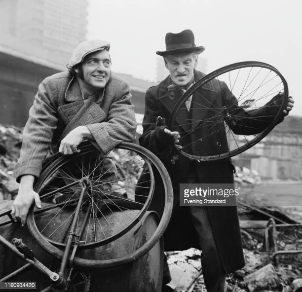 English actor Harry H Corbett as 'Harold Steptoe' and Irish actor Wilfrid Brambell as 'Albert Steptoe' in the sitcom 'Steptoe and Son'