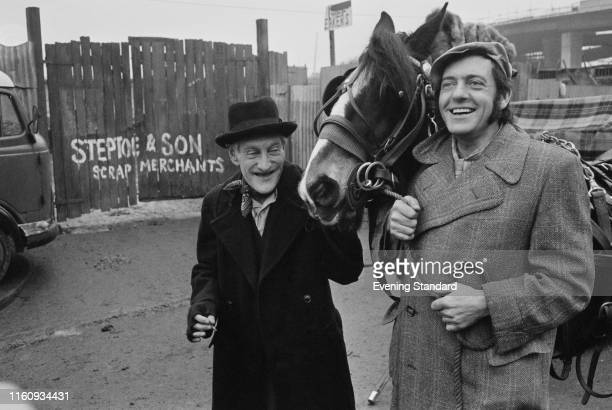 English actor Harry H Corbett as 'Harold Steptoe' and Irish actor Wilfrid Brambell as 'Albert Steptoe' in the sitcom 'Steptoe and Son'