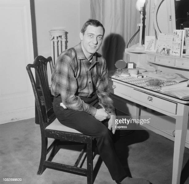 English actor Harry H Corbett pictured seated at a dressing table on 4th April 1963 Harry H Corbett plays the role of Harold Steptoe in the BBC...