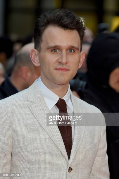 English actor Harry Melling poses upon arrival for the UK premiere of the film 'The Ballad of Buster Scruggs' during the BFI London Film Festival in...