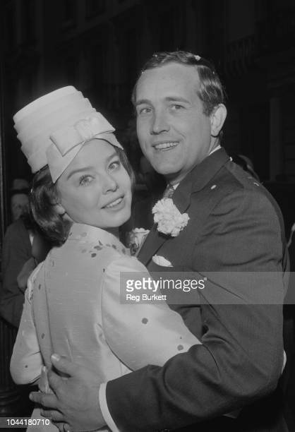 English actor Ian Hendry marries English actress Janet Munro during a wedding ceremony at Bayswater Presbyterian Church in London on 18th February...