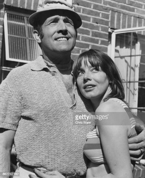 English actor Ian Hendry with his wife actress Janet Munro at their new home in Hampstead London June 1969 Photo by Chris Ware/Keystone...