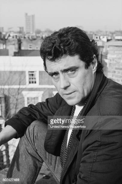 English actor Ian McShane posed on a roof top in London on 28th November 1985