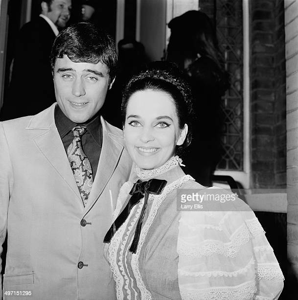 English actor Ian McShane with his second wife model Ruth Post at their wedding Kensington Registry Office London 8th June 1968
