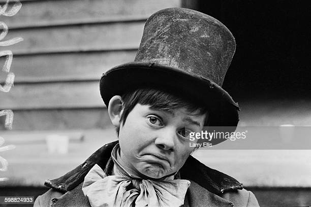 English actor Jack Wild in costume as the Artful Dodger in the film production of the musical 'Oliver!', based on the novel 'Oliver Twist' by Charles...