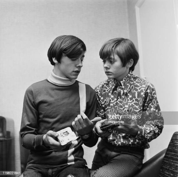 English actor Jack Wild seated on right with his brother Arthur in August 1968