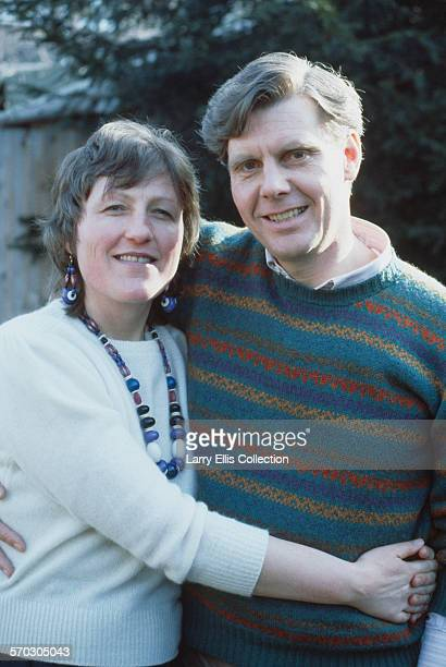 English actor James Fox with his wife Mary Elizabeth Piper circa 1985