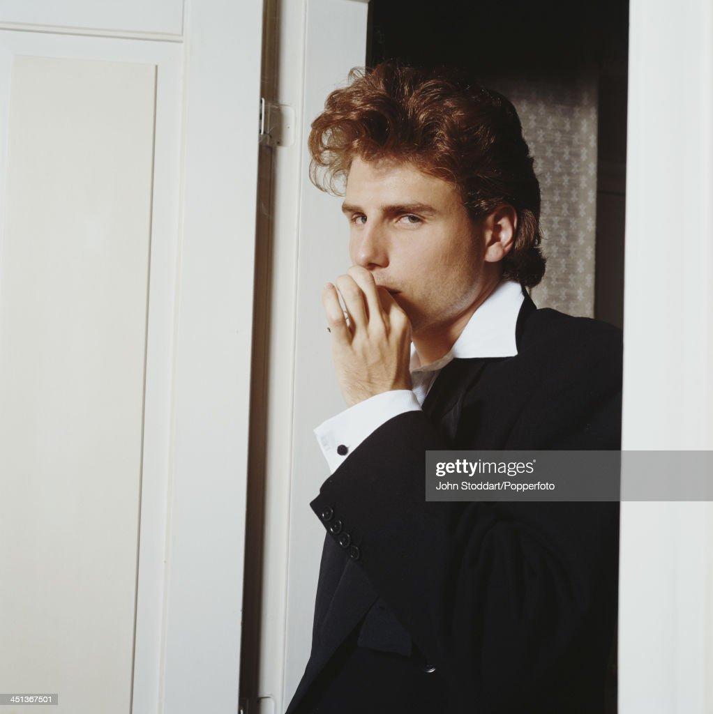 English actor Jason Durr smoking a cigarette, circa 1995.