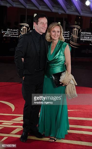 English actor Jason Isaacs and Emma Hewitt attend the 16th Marrakech International Film Festival in Marrakech Morocco on December 03 2016