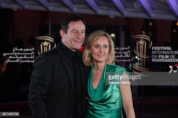 English actor Jason Isaacs and Emma Hewitt attend the 16th Marrakech International Film Festival in Marrakech, Morocco on December 03, 2016.