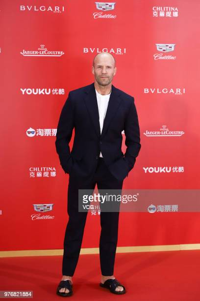 English actor Jason Statham arrives at red carpet during the opening ceremony of the 21st Shanghai International Film Festival at Shanghai Grand...