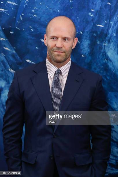 English actor Jason Statham attends the premiere of film 'The Meg' on August 2 2018 in Beijing China