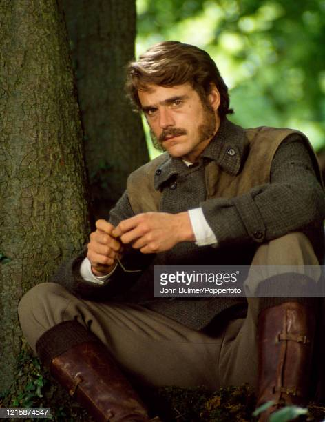 English actor Jeremy Irons who played the role of Charles Henry Smithson in the romantic drama, The French Lieutenant's Woman, during filming at Lyme...