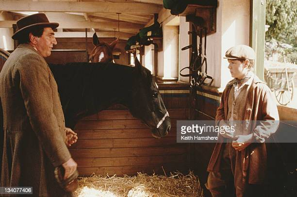 English actor Jim Carter as John Manly and Andrew Knott as Joe Green in the film 'Black Beauty' 1994