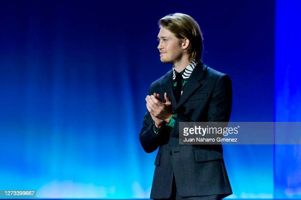English actor Joe Alwyn attends the opening ceremony of the 68th San Sebastian International Film Festival at the Kursaal Palace on September 18,...