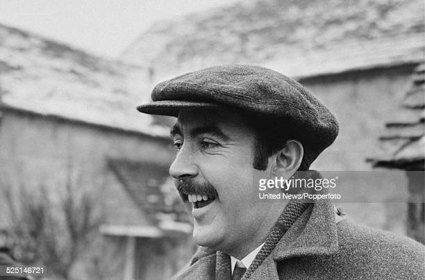 English actor John Alderton pictured in character as Thomas Watkins on the set of the television series Thomas and Sarah in England on 15th February...