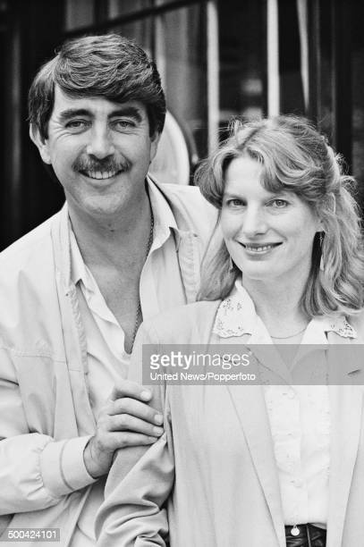 English actor John Alderton posed with actress Karen Archer at a press call in London to promote the television series 'Father's day' on 21st June...