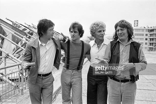 English actor John Hurt American actor Brad Davis American writer Billy Hayes and English film director Alan Parker pose on May 18 1978 for the film...